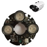 3pcs Array IR LED Spot luz 850nm placa infrarroja para CCTV Bullet Cámara 53mm Diámetro