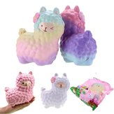 Vlampo Squishy Alpaca 17x13x8cm Slow Rising Original Packaging Collection Gift Decor Toy