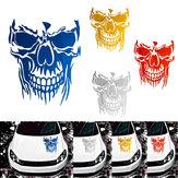 23 x 29.5cm Skull Hood Car Stickers Vinyl Decals Auto Body Truck Tailgate Window Door Universal
