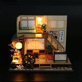 DIY Dollhouse Miniature Meubles En Bois LED Kit Style Japonais Artisanat Jouet Maison De Poupée Cadeau