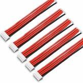 Original 5PCS 4S 5Pin 2.54XH los 30cm Lipo Batería Cargador Silicona Alambre Balance Cable de extensión