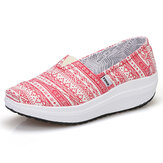 Women Canvas Respiratable Sport Outdoor Flat Casual Shoes