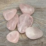 6pcs Pink Healing Crystal Quartz Polished For Decoration Health