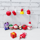 Original 12PCS/Lot Christmas Squishy Package Gift Box Santa Clause Snowman Candy Bell Soft Slow Rising