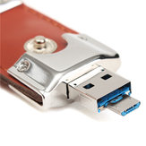 8/16/32GB Portable Leather Mirco USB2.0 OTG Flash Drive U Schijf