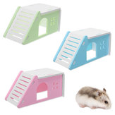 Pet Mouse Hamster House Villa Cage Bed Liftable Ladder Window Nest Exercise Toy