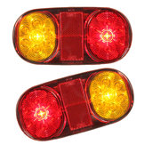 2X Waterproof 12V 14LEDs Rear Tail Lights Turn Signal Lamps for Boat Trailer UTE Camper Truck