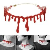 Halloween Horror Blood Drip Necklace Fake Blood Vampire Fancy Joker Gargantilla Disfraz Rojo Collares