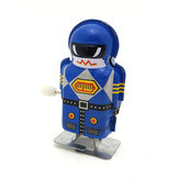 Clásicos vendimia Reloj Wind Up Magia Boy Robot Reminiscence Niños Niños Tin Toys