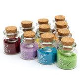 24 colori di polvere di arte velluto affolla chiodo polvere pot decorazione del vetro