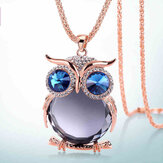 Cute Pendant Necklace Rhinestone Colorful Animals Night