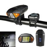 XANESSFL13650LMEstándaralemánSensor Luz para bicicleta con Control remoto Horn Bell USB Impermeable recargable antideslumbrante