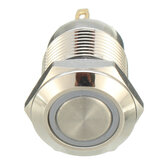 Machifit DC 5V 19mm 4 Pin Momentary Switch Led Light Metal Push Button Waterproof Switch
