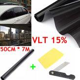 50cm X 7m 15% VLT Window Tint Film Black Roll for Car Auto House Office Commercial