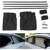 2X 51*39CM Adjustable Car Window Sunshade Side Window Curtains with Tracks