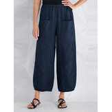 S-5XL Women Casual Loose Elastic Waist Pants