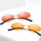 Gafas de sol sin marco Universal UV Resistence Hexagon para mujer