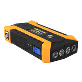 16000mAh LED Car Jump Start Starter 4 USB شاحن البطارية القوة Bank Booster 12V