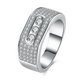 INALIS Zircon Gift Anniversary Wedding Finger Rings