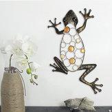 Décorationsdemaisonmontéesparornement d'art de mur de jardin de métier en métal de fer de grenouille