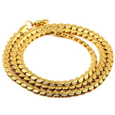 Hip Hop Jewelry Gold Snake Chain Cuban Trendy Copper Necklace for Men