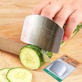 Honana1piezadecocinaherramientas Protector de mano de dedo de acero inoxidable Protector de mano de dedo para cortar Chuleta Segura Rebanada de cocina Protección de dedo herramientas