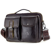 Mens Leather Messenger Bag Retro Laptop Bag