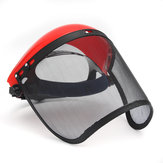Clear Mesh Full Visor Flip Up Face Shield Screen Safety Mask Eye Protector Helmet Red