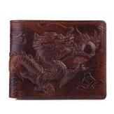 Men Genuine Leather Personalized Wallet Short Wallet