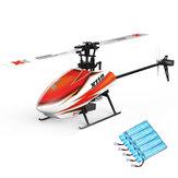 XK K110 Blast 6CH Sin escobillas 3D6G System RC Helicóptero BNF con 5PCS 520mAh actualizado Batería