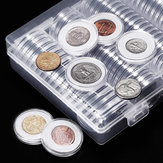 100Pcs/Lot 20/25/27/30mm Clear Plastic Coin Holder Universal Commemorative Coin Shell Collector