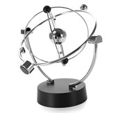 Silver Orbital Desk Decoration Celestial Newton Pendulum