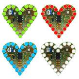 Kit de lumière en forme de coeur EQKIT® DIY LED Flash Pièces de lumière de respiration Rouge Vert Bleu Blanc Couleur En option