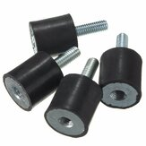4pcs M6 Rubber Mounts 20mm x 20mm Rubber Shock Absorber Rubber Vibration Isolator Mounts