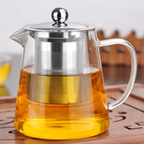 750/950ml Clear Heat Resistant Glass Tea Pot Stainless Steel Infuser Filter