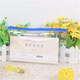 21xun sac en plastique transparent 13cm claire examen approuvé stationery affaire pvc