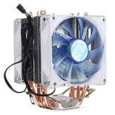 92mm 3 Pin Blue LED Copper CPU Cooler Cooling Fan Heat Sink for Intel LGA775/1156/1155 AMD AM2/2+/3