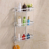 Hollow Out Aluminium Bathroom Kitchen Storage Rack Commodity Shelf Sundries Holder