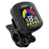 Aroma AT-105 Guitar Rechargeable Clip-on Tuner Color Screen for Chromatic Guitar Bass Ukulele Violin