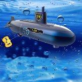 RC Mini Submarine 6 canales Control remoto bajo el modelo de nave de agua juguete de los niños