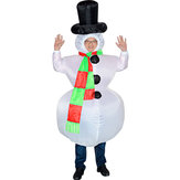 Original Inflatable Toys Christmas Costume White Snowman Stag Night Party Suit