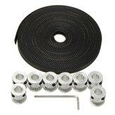 20T GT2 Aluminium Timing Pulley 2GT 5M Belt For RepRap Prusa Mendel 3D Printer