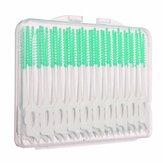 40pcs cepillo interdental entre los dientes hilo elástico masaje palillo de dientes de las encías
