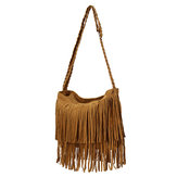 Women Retro Tassel Bags Girls Casual Shoulder Bags Crossbody Bags Messenger Bags
