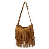 Femmes rétro sacs pompon filles sacs à bandoulière occasionnels Crossbody sacs messenger