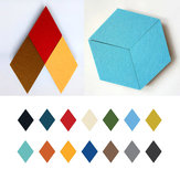 Honana DX-135 3PCS Creative Colorful Rhombus Wool Felt Multifunctional Wall Sticker Smart Collect Boards