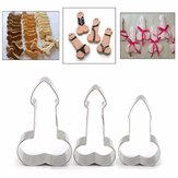 Honana Stainless Steel Willy Penis Cookie Cutter Baking Mold Biscuit Fondant Cake Mould Decorations