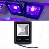 20W UV LED Projector Flood Light 365/375/385/395/405/415NM Outdoor Waterproof Lamp AC85-265V
