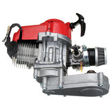 49cc Engine 2-Stroke Pull Start with Transmission For Mini Moto Dirt Bike Red