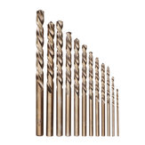 Drillpro 13st 1.5-6.5mm HSS-Co M35 Cobalt spiraalboorset voor metaalboren